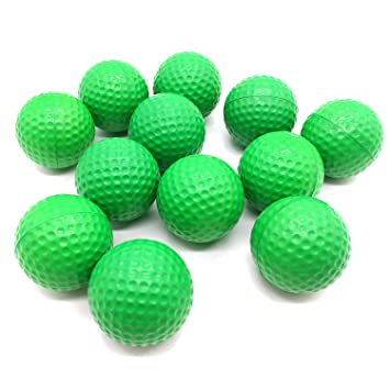 Fine Productos básicos práctica Pelotas de Golf, Espuma, 12 Count ...