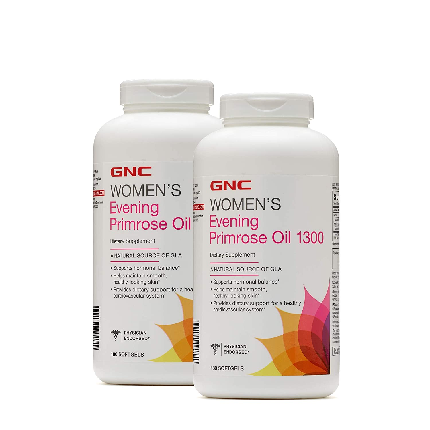 GNC Womens Evening Primrose Oil 1300mg – Twin Pack