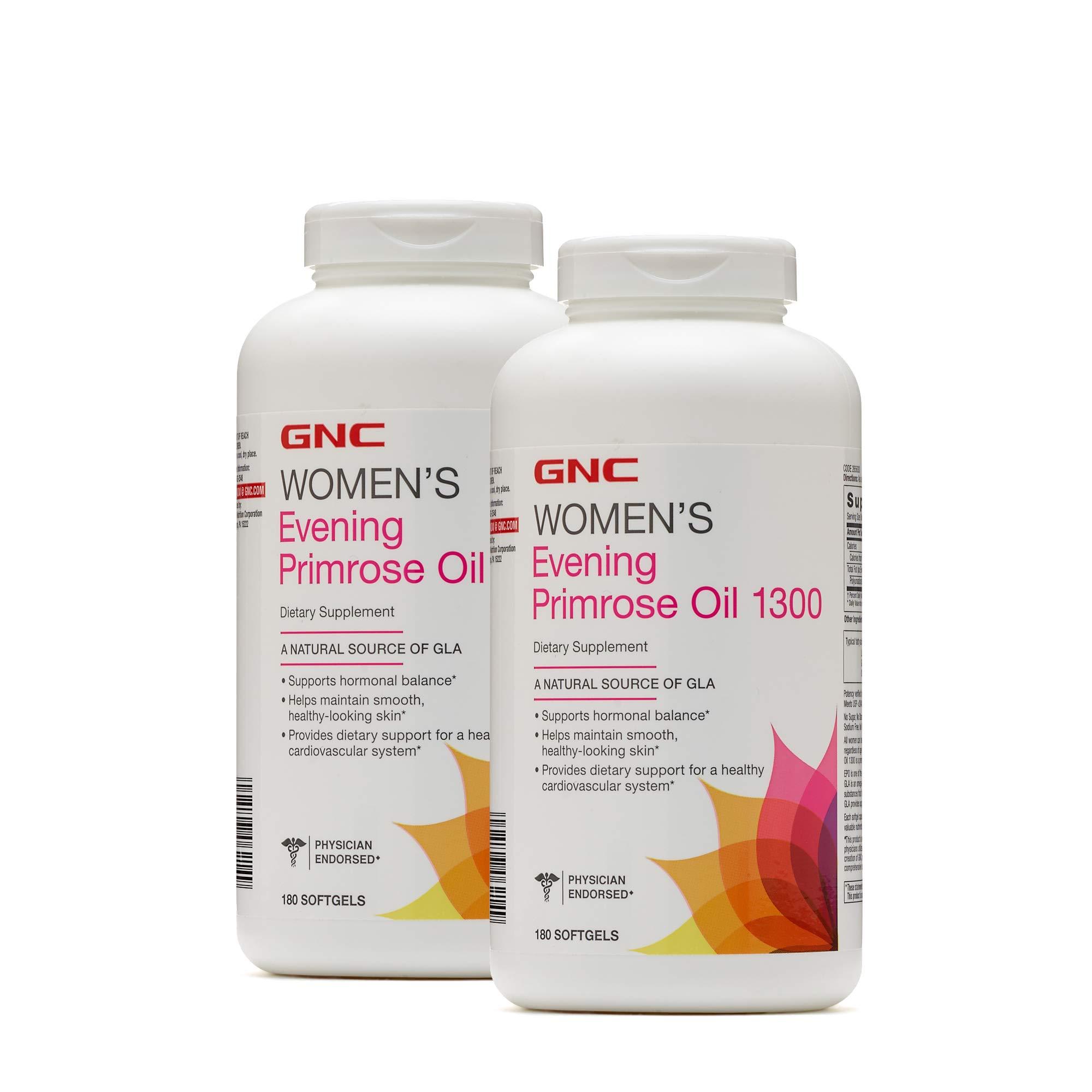 GNC Womens Evening Primrose Oil 1300mg - Twin Pack