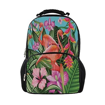 2f1033de0 Amazon.com  iPrint Kids School Bag Flamingo Decor
