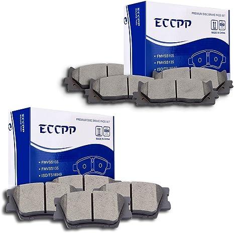For 08 09 10 11 12 13 14 15 Toyota Avalon Camry Matrix 4 Rear Ceramic Brake Pads