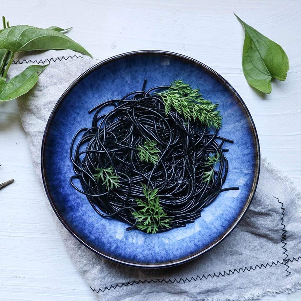 Gweat Japanese Style Blue Retro Ceramic Tableware Creative Ramen Bowl Large Soup Bowl Fruit Salad Bowl