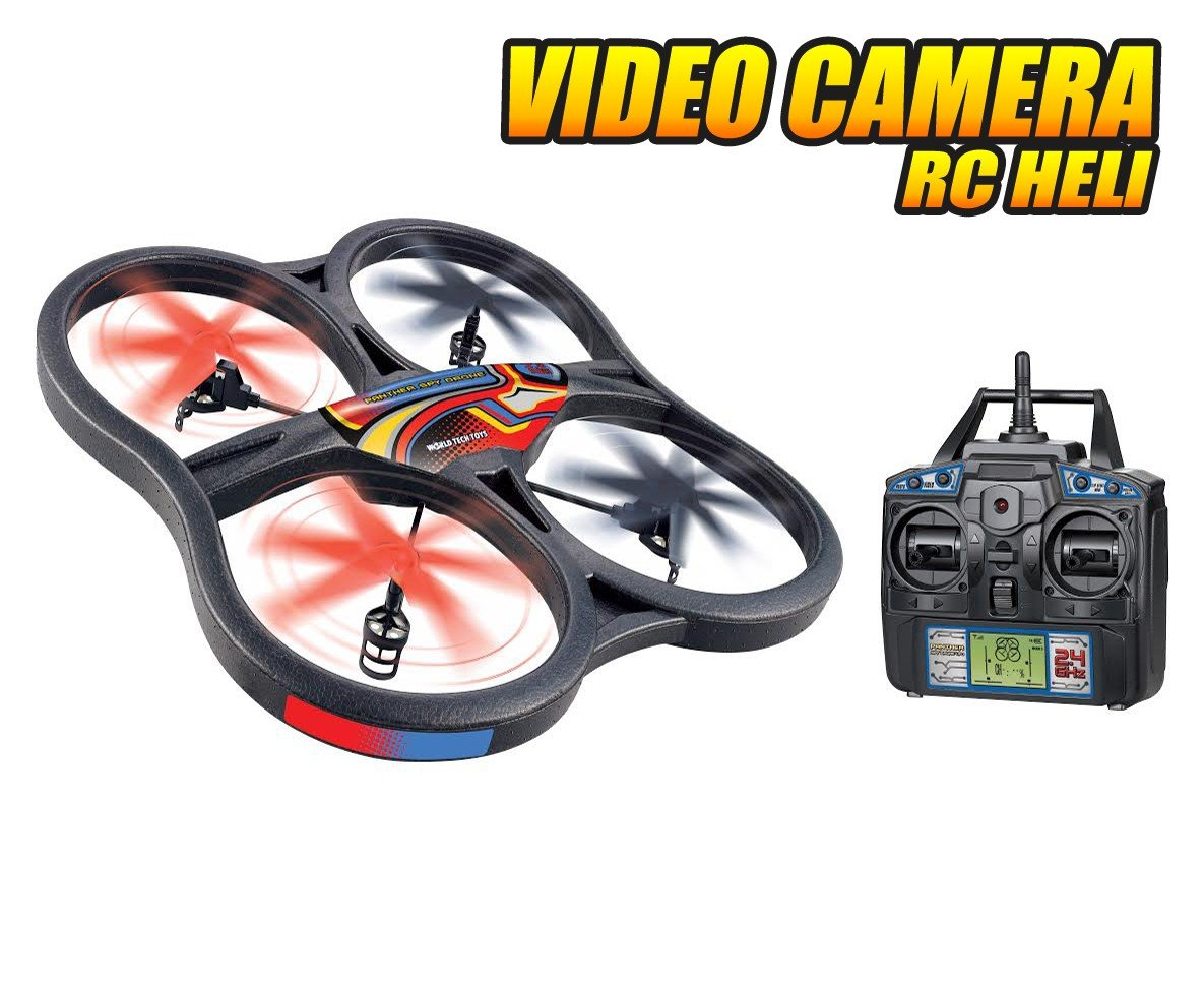 Amazon.com: Panther Spy Drone UFO with Video Camera 4.5CH 2.4GHz ...
