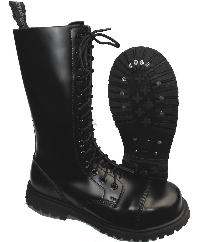 Knightsbridge 14-Loch Springerstiefel UK Gothic Style Stiefel Stiefel Stiefel schwarz Gr. 37 - 47 37,Schwarz f82056