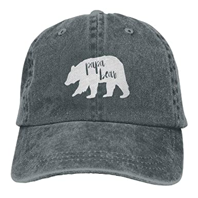887b499067 Amazon.com  Papa Bear Adult Embroidery Cowboy Hat Unstructured Hat ...