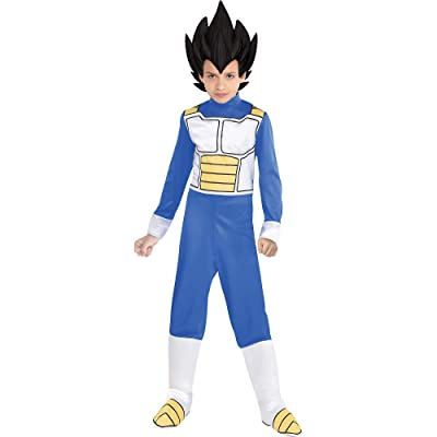 Party City Dragon Ball Super Vegeta Costume for Children, Includes Jumpsuit, Headpiece, and Boot Covers: Clothing
