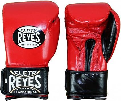 CLETO REYES Extra Padding Leather Boxing Training Gloves 16 oz Red
