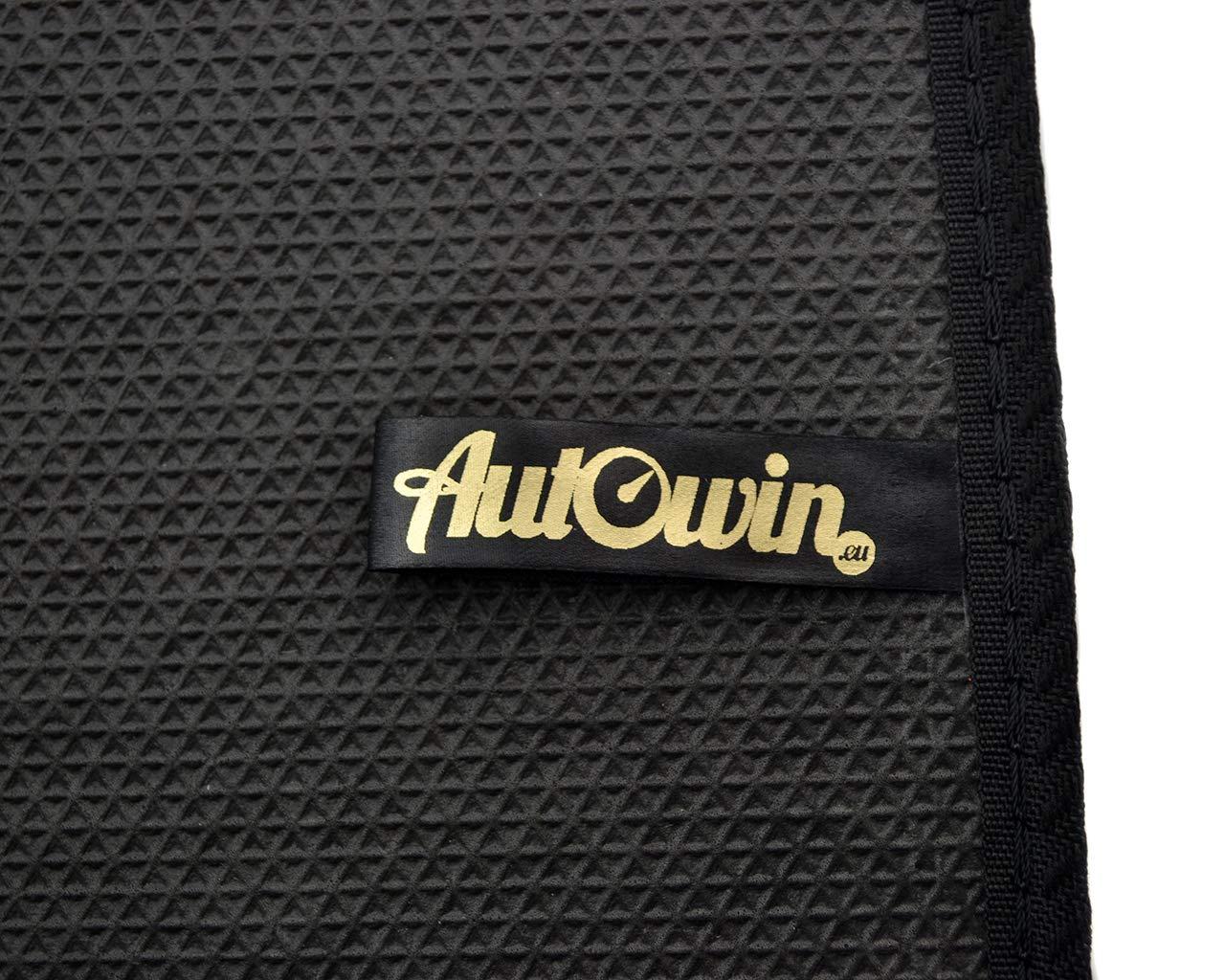 AutoWin.eu Serie 5 F10//F11 Modelos de Alfombrillas Set Terciopelo Calidad Original Negro