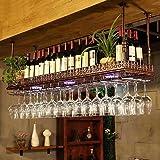 Hanging Wine Glass Rack Stemware Shelf Organizer Upside Down Cup Holder LC
