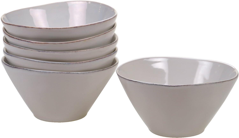 Certified International Corp 22873SET6 Orbit Grey 6 Ice Cream//Dessert Bowls , Set of 6