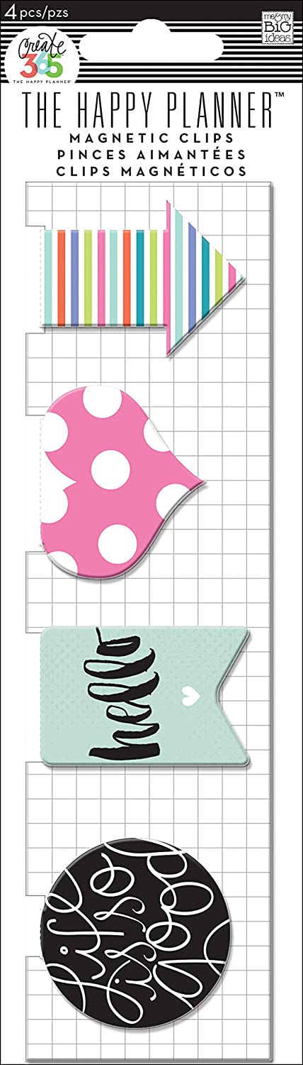 Me and My BIG Ideas Magnetic Clips Hello Stripes Planner MAGC-03