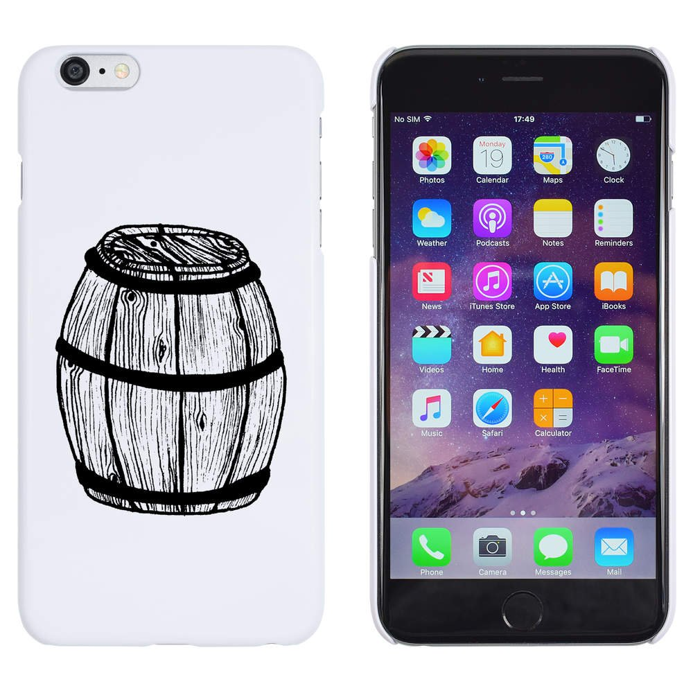 Azeeda Blanco Barril de Madera Funda iPhone 6 Plus & 6s Plus ...