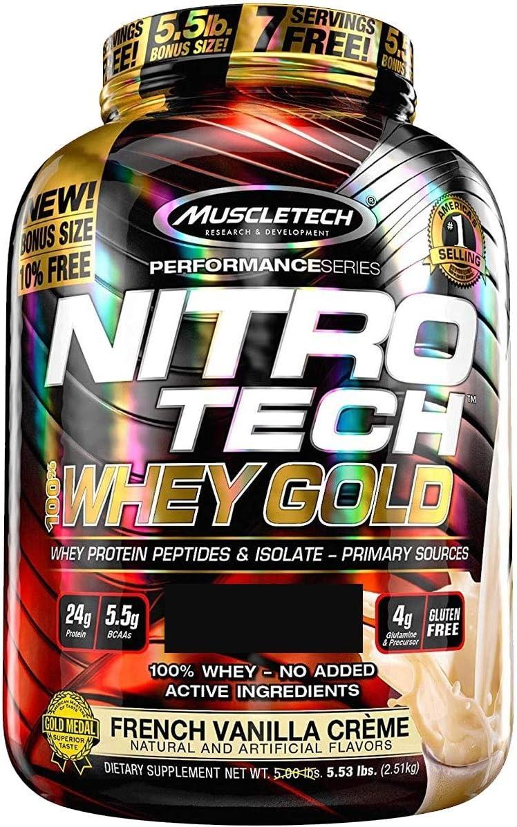 Muscletech Nitro Tech Whey Gold - 2,5 kg Dulce de leche