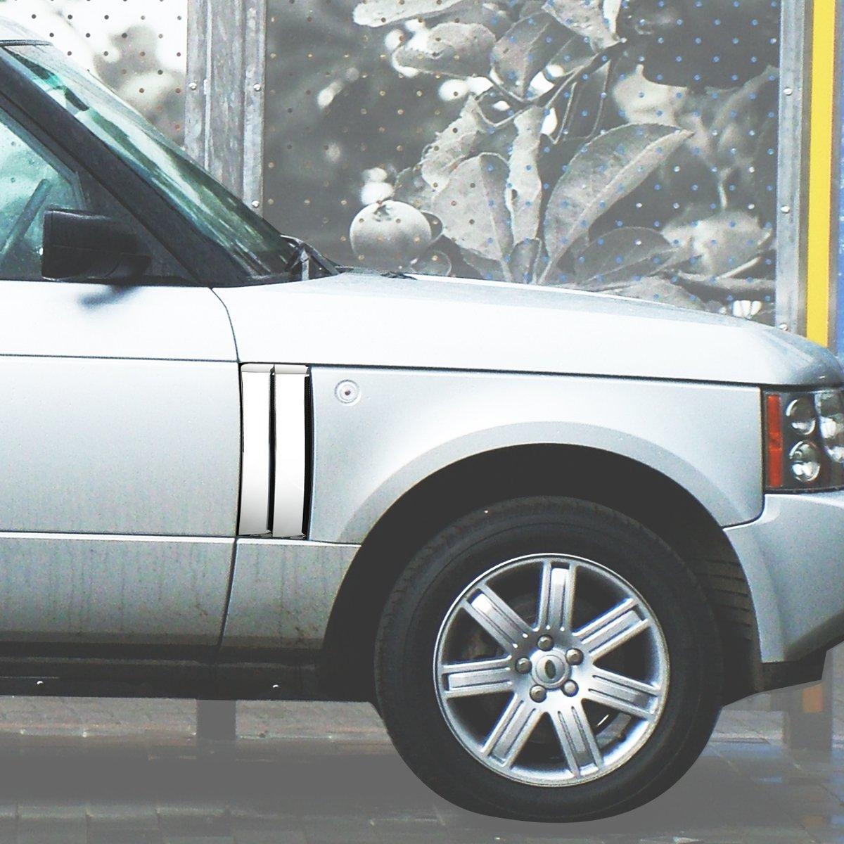 DNA Motoring GRF-090-CH Side Fender Mesh Grille For 03-12 Land Rover Range Rover L322