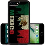 Luxlady Premium Apple iPhone 7 Plus Aluminum Backplate Bumper Snap Case IMAGE ID: 18935942 View of Mexico on the Grunge Mexican Flag