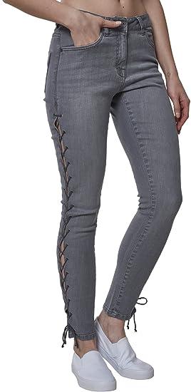 Pants Classics Jean Lace Ladies Denim Skinny Amazon Femme Urban Up wZvAqwP