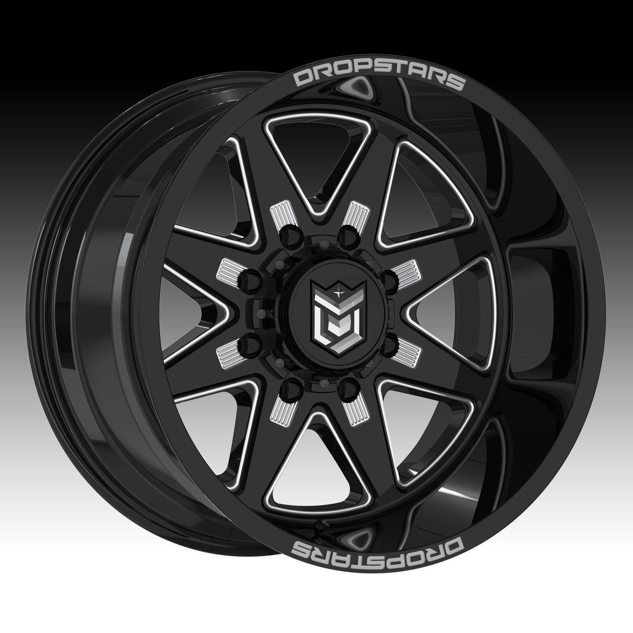 Dropstars 655BM 20x10 8x170 -25mm Black/Milled Wheel Rim
