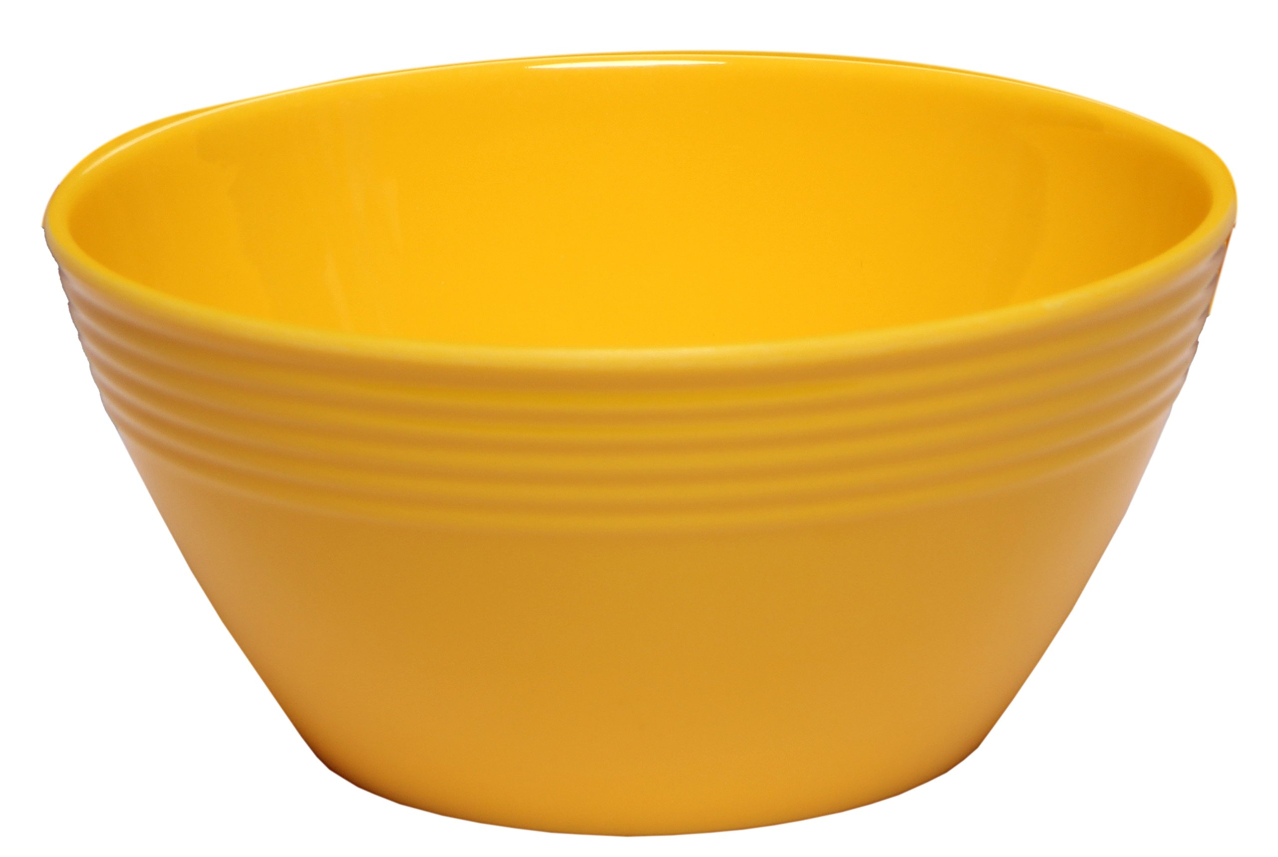 Melange 6-Piece  Melamine Bowl Set (Solids Collection ) | Shatter-Proof and Chip-Resistant Melamine Bowls | Color: Yellow