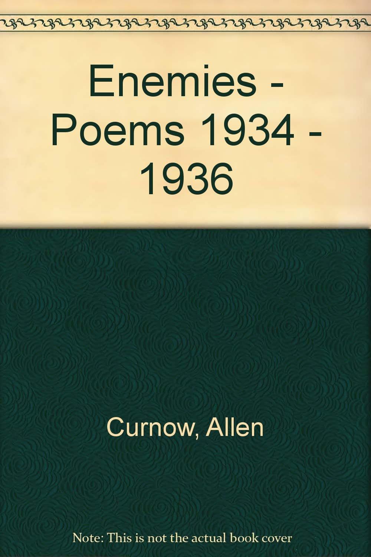 Enemies - poems 1934 - 1936: Allen Curnow: Amazon com: Books