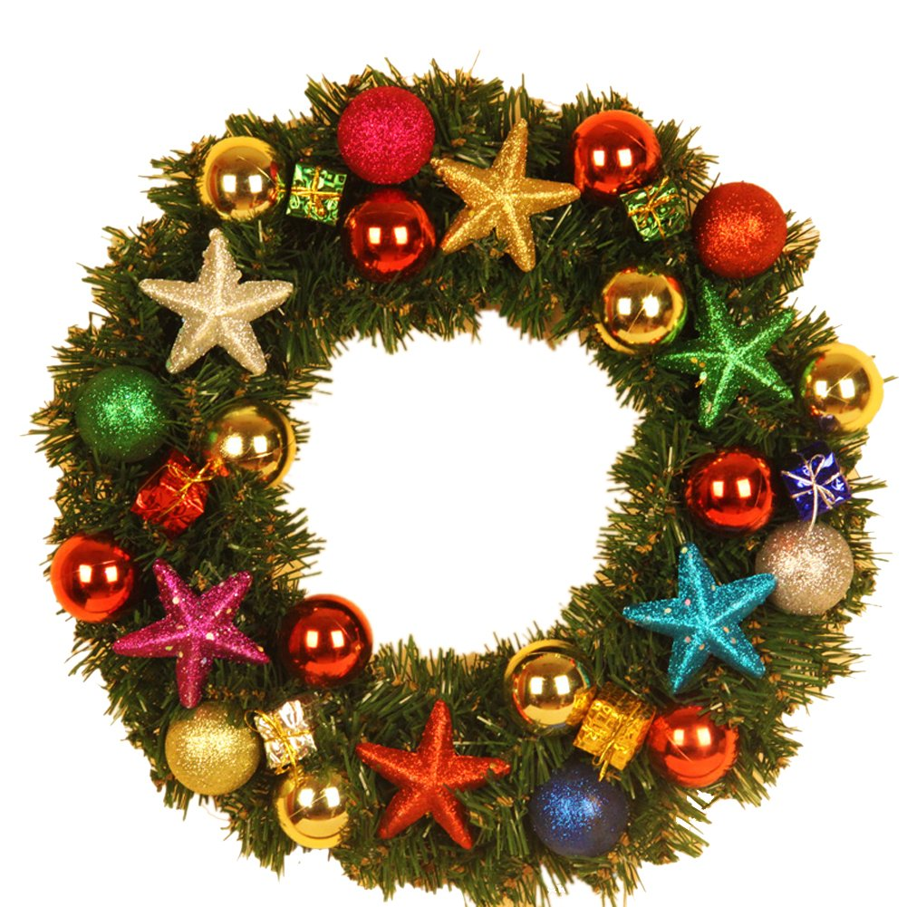 Variety of Decoration Colorful Christmas Wreath Garland Ornaments Arcades Hotel Christmas Decorations