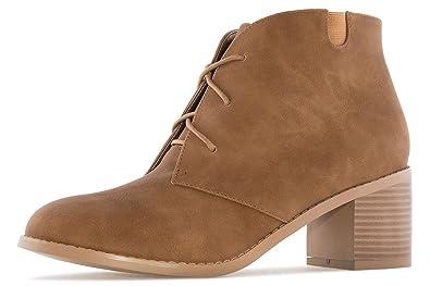 2c5f63c0b4084d Andres Machado - Damen Stiefelette - Cognac Schuhe in Übergrößen ...