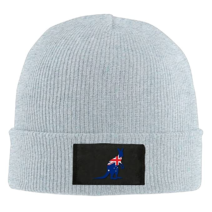 b315d16a87a Slouchy Beanie Beanies Hat Flag of Australia Kangaroo Slouchy Skull Caps  Womens