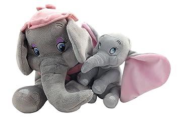 Disney Park Baby Dumbo - Muñeca de Peluche con diseño de Elefante y Madre