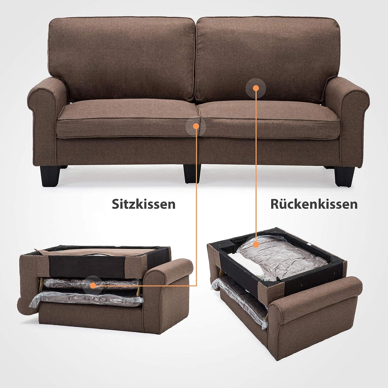 Mecor Doppelsofa 2 Sitzer Sofa Leinensofa Wohnzimmerm ouml ...