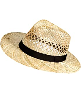 EveryHead De Moda Fiebig Sombrero Paja Mujer Señoras Traveller Vaquero  Panamá Uni Con Banda Acanalada (FI-16518… bfec0f00cf5