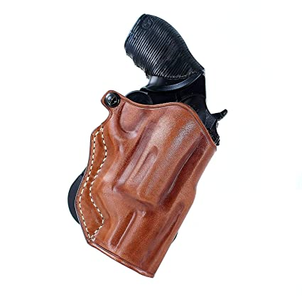 Leather Paddle Holster (OWB) Open Top Fits Taurus Judge Public Defender  410GA/45LC Poly, 2