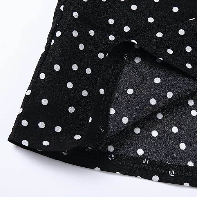 Amazon.com: POTO Shirts for Women Clearance,V-Neck Polka Dot Print Long Sleeve Tops Blouse T-Shirts: Clothing
