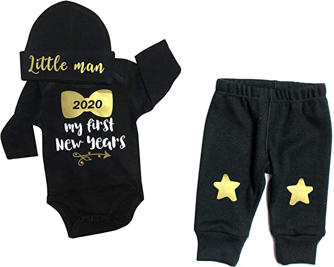 Unique Baby Unisex My 1st New Years Baby Outfit Layette Set