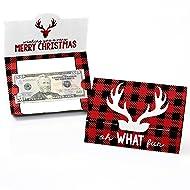 Prancing Plaid - Christmas & Holiday Buffalo Plaid Money and Gift Card Holders - Set of 8