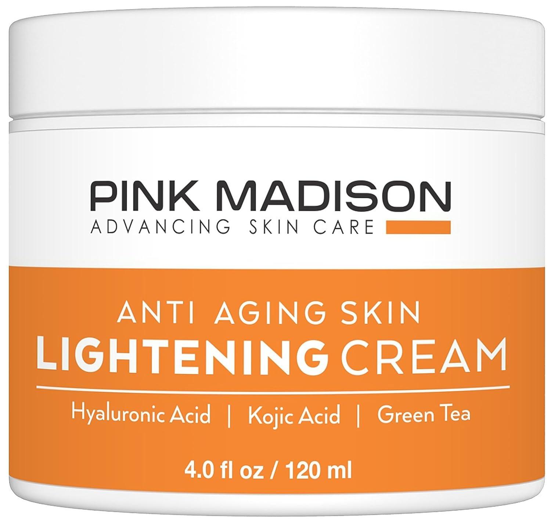 (海外直送品)Pink Madison(R) ホワイトニング クリーム -- anti-agigの軽量クリーム - ヒアルロン酸、コウジ酸、緑茶 最高級品 自然由来成分 夜用保湿クリーム。4 オンス B01G13C8UO