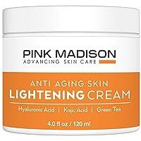 Pink Madison Radiance Cream. Anti Aging Skin Radiance Cream - Hyaluronic Acid, Kojic Acid, Green Tea. Best Night Day Moisturizing Cream. 4 Oz