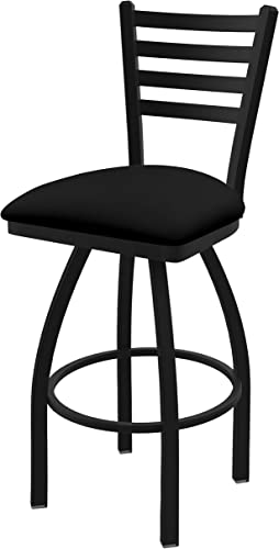 Holland Bar Stool Co. 41036BWBlkVinyl 410 Jackie Swivel Bar Stool