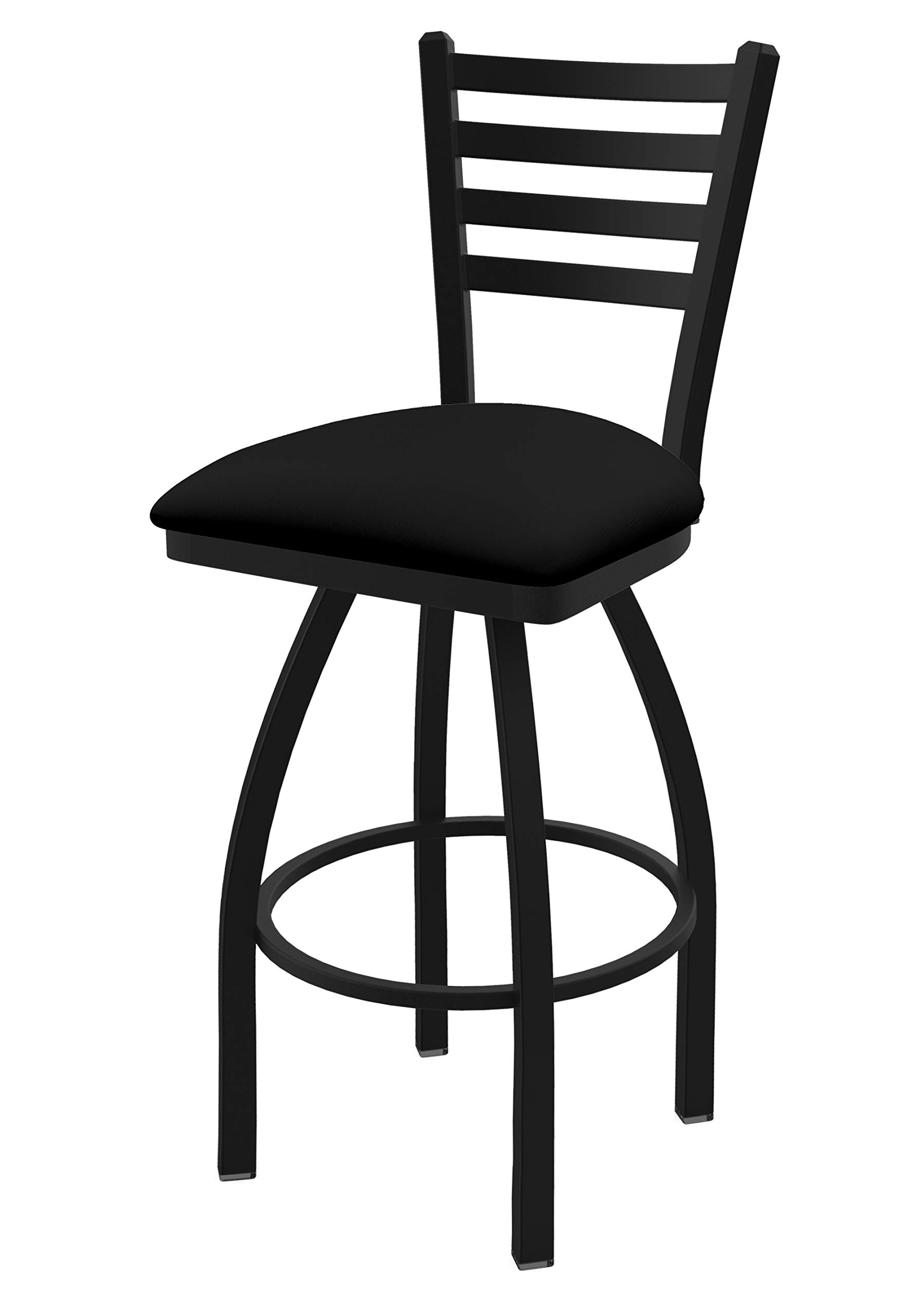 410 Jackie 25'' Swivel Counter Stool with Black Wrinkle Finish and Black Vinyl Seat by Holland Bar Stool Co.