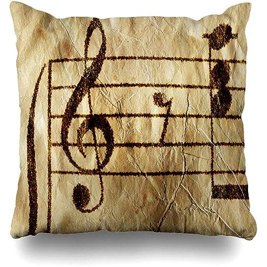 Funda de Almohada Artistic Piano Partituras Antiguas de ...