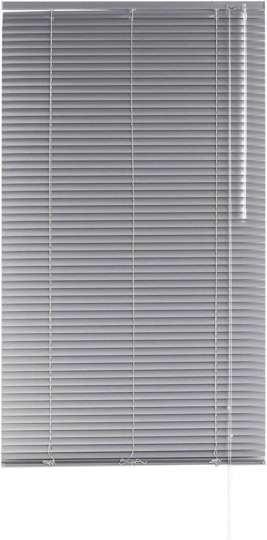 Blindecor - Veneciana de Aluminio, Lama de 25 mm, Plata, 90X250 cm