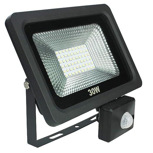 30 W 2400 lm LED proyector proyector foco foco con PIR sensor de ...