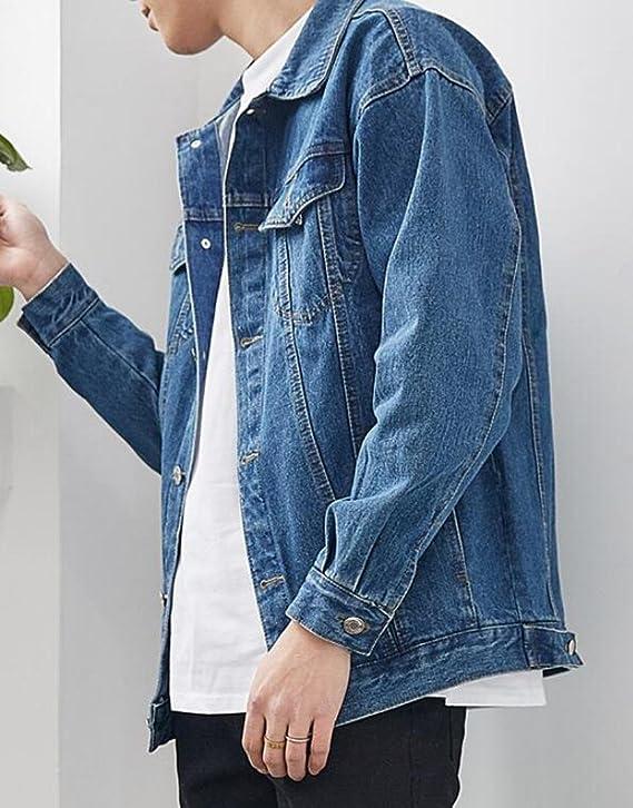 UUYUK Men Hipster Ruched Closed Bottom Slim Casual Denim Jeans Pants
