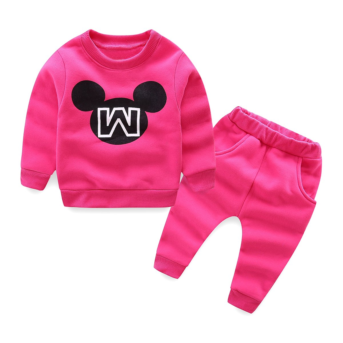 Mud Kingdom Toddler Girls Letters Fleece Sweater and Pants Outfits ZT0332