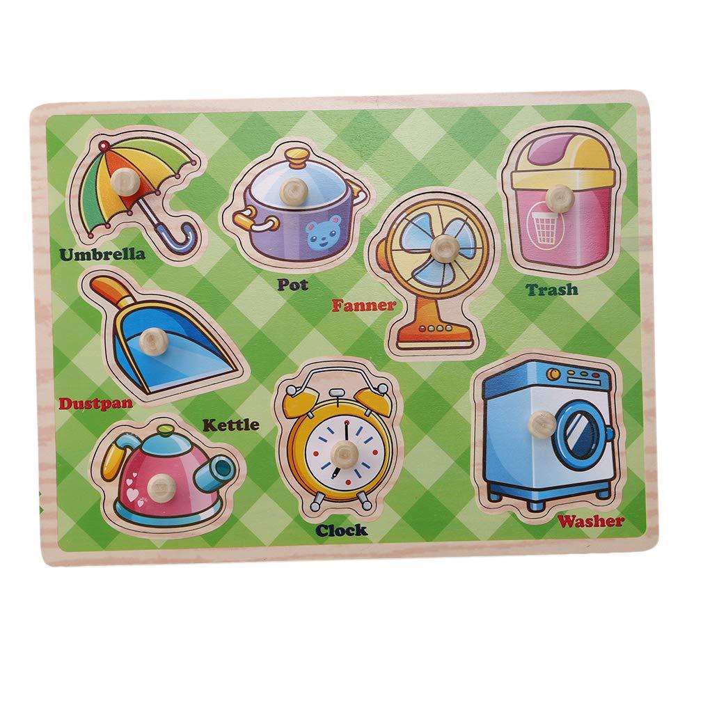LIXIAQ1 rompecabezas de madera para niños, juguete educativo y de aprendizaje, rompecabezas de juguete para niños, madera, Fruit section, Length and width about 30 * 22.5cm