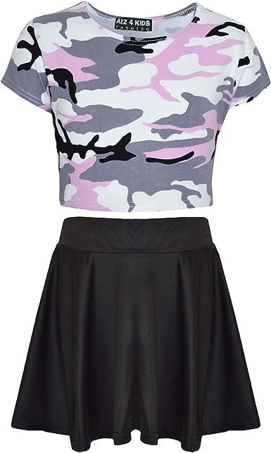 A2Z 4 Kids/® Girls Top Kids Splash Print Stylish Crop Top /& Fashion Legging Set Age 7-13 Year