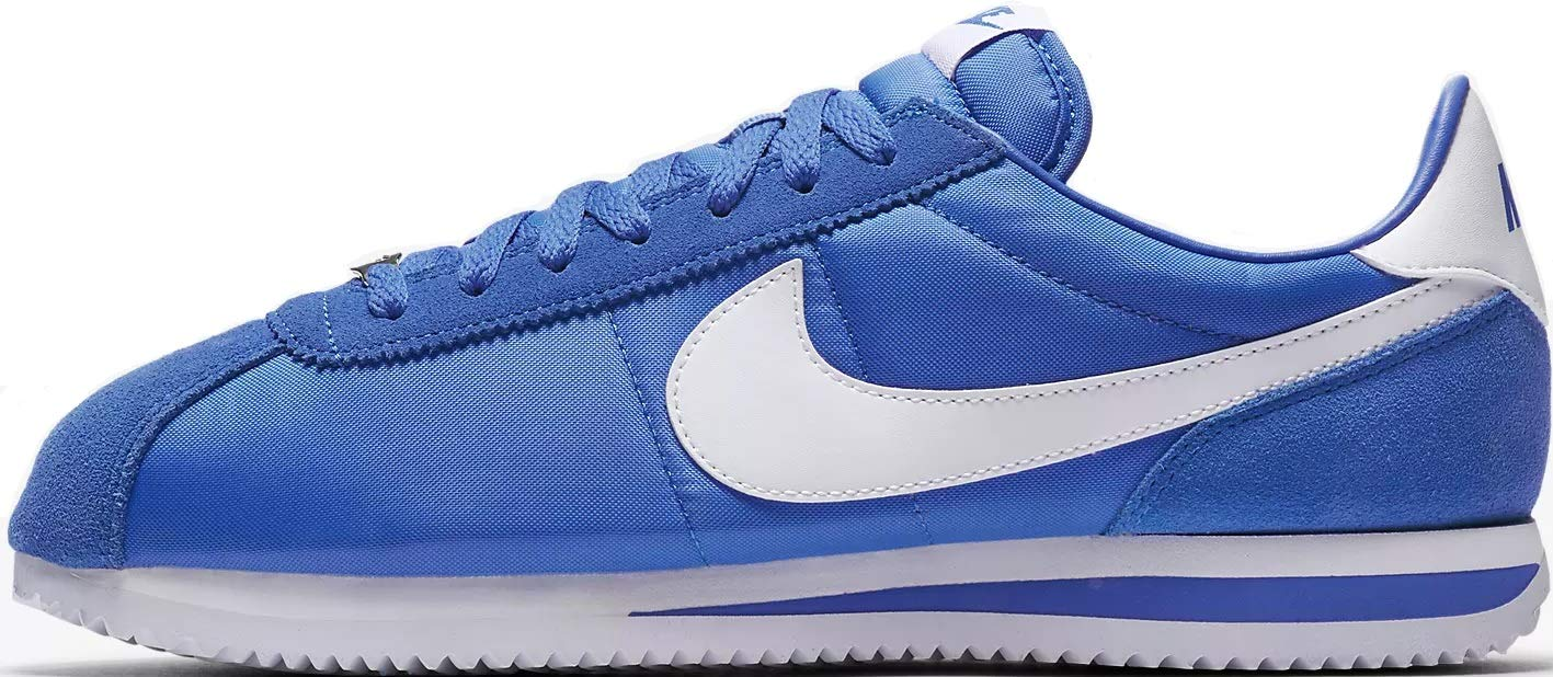 newest be276 204a4 Galleon - NIKE Cortez Basic Nylon Mens Fashion-Sneakers 819720-402 10.5 - Signal  Blue White