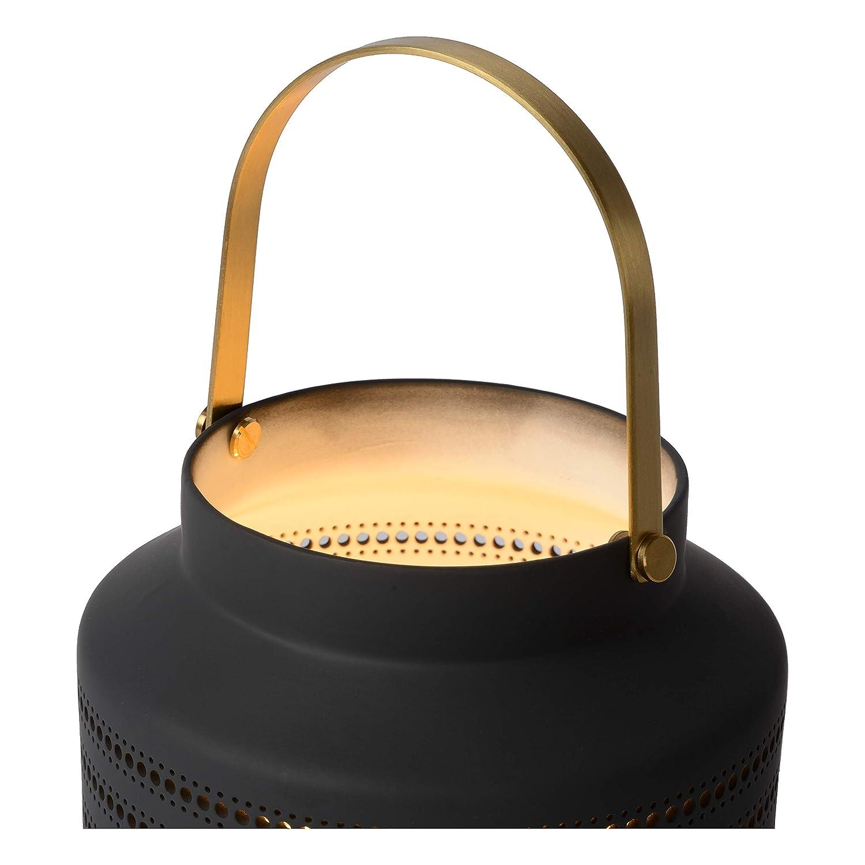 Lucide Jamila - Lámpara de mesa, porcelana pvc, gris 25W 230V: Amazon.es: Iluminación