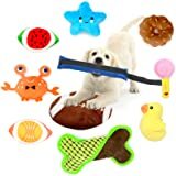 LASOCUHOO Dog Toys, Squeaky Dog Toys for Small Medium Dog, Durable Puppy Teething Toys, Stuffed Plush Dog Toy with Squeakers