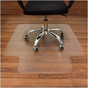 AiBOB Office Chair mat for Hardwood Floor, 36 x 48 inches, Easy Glide for Chairs, Flat Without Curling, Floor Mats for Computer Desk