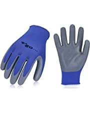 Vgo 10 Pairs Nitrile Coating Gardening and Work Gloves(Size L,Blue,NT2110)