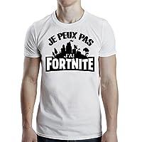 Tee Shirt Je Peux Pas J'Ai Fortnite - Tshirt Cadeau Gamer Jeux Vidéo Battle Royale